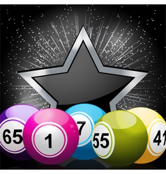 star bingo ball background vector image
