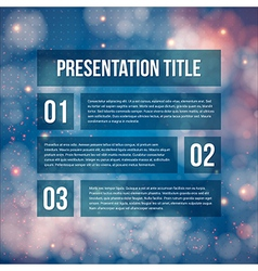 Template for Your business presentation Blurred vector image vector image