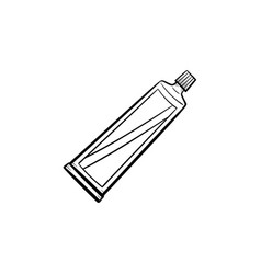 Cream tube hand drawn sketch icon vector