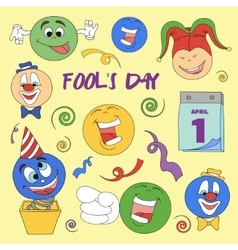 Fools day- 1 April vector image