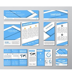 Great set for corporate identity vector image vector image