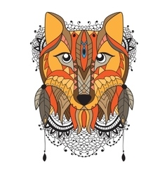 animal portrait - fox vector image