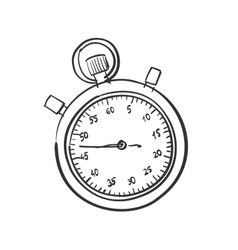 Doodle stopwatch vector image