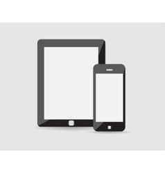 modern phone tablet vector image vector image