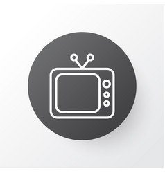 Tv icon symbol premium quality isolated vector
