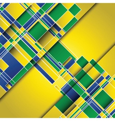 Abstract design background using Brazil flag vector