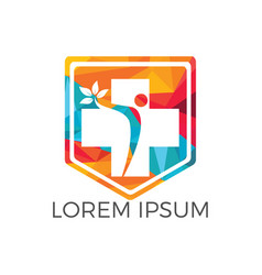 abstract medical logo design vector image