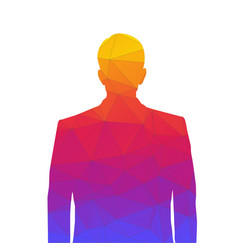 Accurate silhouette a man from colored vector