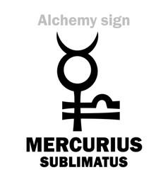 Alchemy mercurius sublimatus sublimate vector