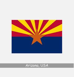 Arizona usa state flag az usa vector