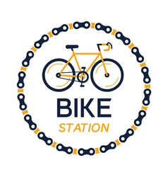 bicycle station plate vector image