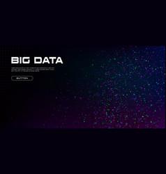 big data visualization a cluster multi-colored vector image