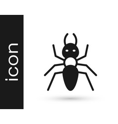 Black ant icon isolated on white background vector