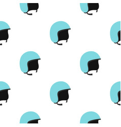 Blue safety helmet pattern seamless vector