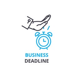 business deadline concept outline icon linear vector image vector image
