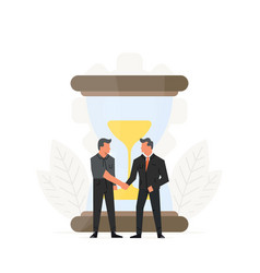 business time management businessmen vector image