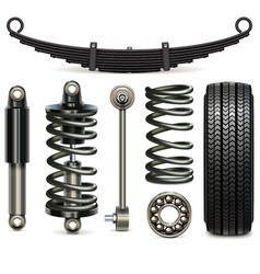 car suspension parts vector image