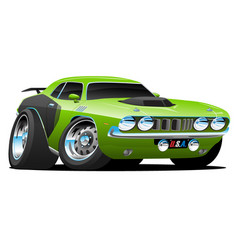 classic seventies style american muscle car vector image