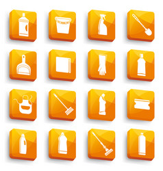 Cleaning buttons vector