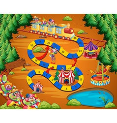 Clown circus game vector image
