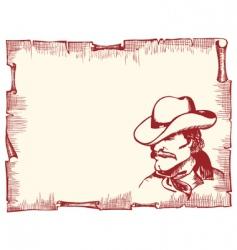 Cowboy poster vector