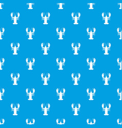 crayfish pattern seamless blue vector image