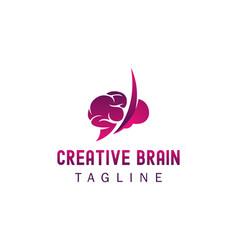 Creative brain logo up brain logo vector