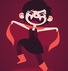 Cute Vampire Girl Making a Scary Pose vector