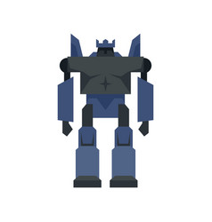 cyborg robot transformer icon flat isolated vector image