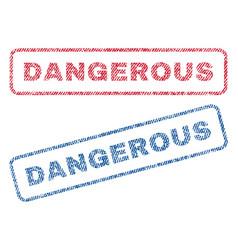 Dangerous textile stamps vector