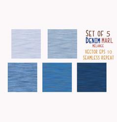 Dark blue denim marl seamless pattern vector