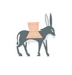 Decorative donkey in egyptian style vector