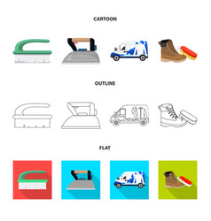 Design of laundry and clean sign vector