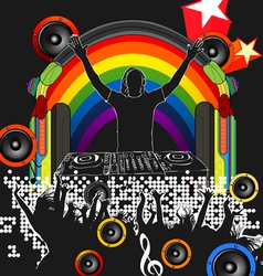 DJ perfromance vector