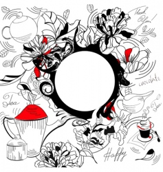 doodle background vector image