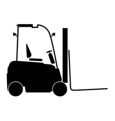 Electric loader the black color icon vector