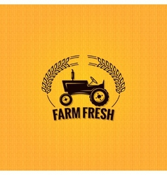 farm tractor design background vector image