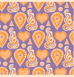 Fashion seamless pattern with ethnic lace element vector
