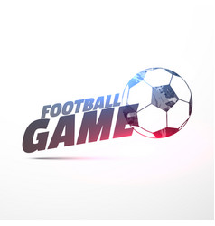 Football game background with light effect vector