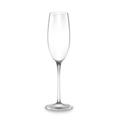 glass of champagne isolated vector image