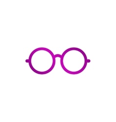 Glasses icon Flat design style vector image