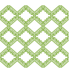 Greenery eco rhombus seamless pattern background vector