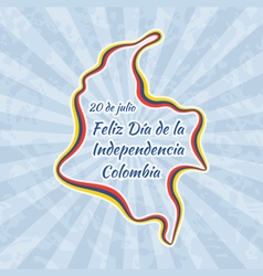 Happy Independence Day in Colombia vector