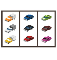 Isometric car set vector
