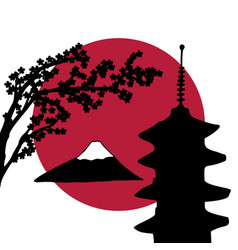 japan theme design vector image