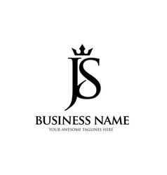 js crown letter vector image