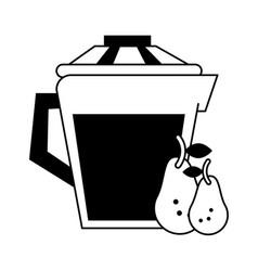 Jug with beverage icon image vector