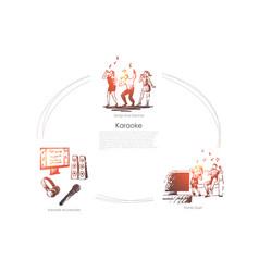 karaoke - songs and dances family duet karaoke vector image