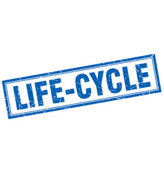 Life-cycle square stamp vector