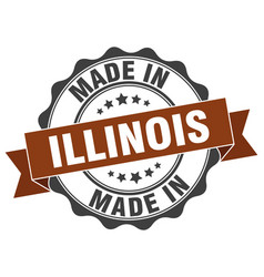 Made in illinois round seal vector